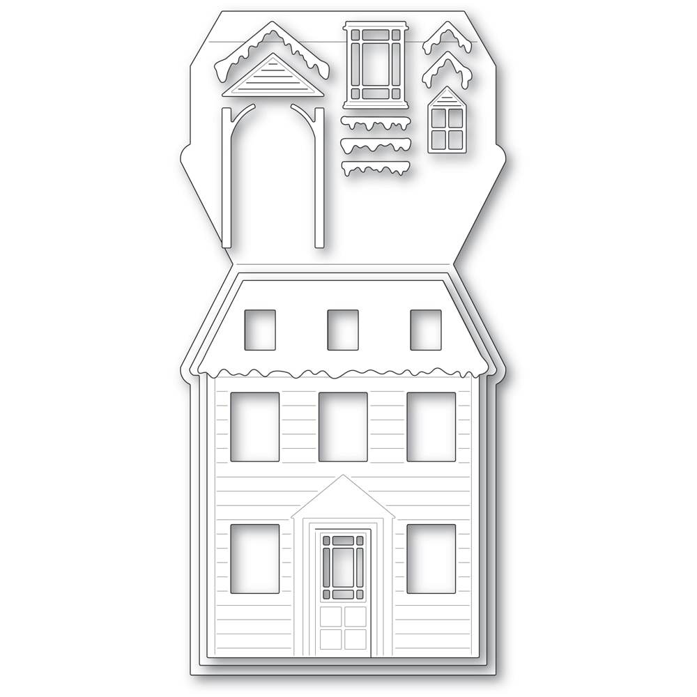 Winter House Pop Up Easel