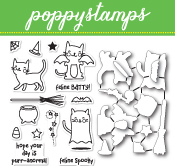 CB460 Feline Spooky clear stamp and die set