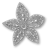 1055 Small Luxe Poinsettia Outline craft die
