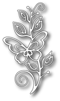 1391 Bellina Butterfly Stem craft die