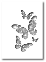 1396 Bellina Butterfly Collage craft die