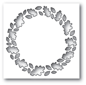 1952 Leafy Wreath Collage craft die