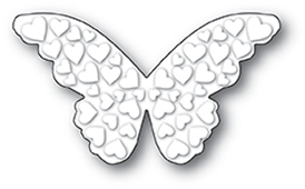 1989 Embossed Heart Butterfly craft die