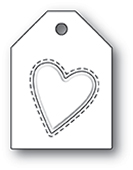 1993 Embossed Heart Taglet craft die