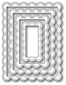 2002 Double Stitch Scalloped Rectangle Frames craft die