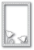 2178 Garden Poppy Stitched Frame craft die