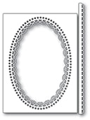 2224 Double Scallop Oval and Border craft die