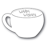 2254 Warm Wishes Gift Card Cup craft die