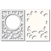 2283 Holly Frame and Stencil craft die