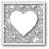 2297 Scribble Daisy Heart Frame craft die