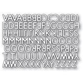 2330 Poetic Uppercase Alphabet craft die