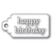 2364 Happy Birthday Stitched Tag craft dies