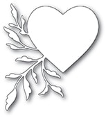 2458 Leaf Flourish Heart craft die