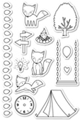 CL402 A Fox Tale clear stamp set