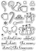 CL408 Cup of Cheer Clear Stamp Set