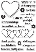 CL443 Grateful Heart clear stamp set