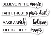 CL454 Believe in Magic clear stamp set