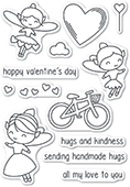 CL462 Valentine Fairies clear stamp set
