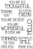 CL469 Art Deco You Are Wonderful clear stamp set