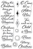 CL473 Christmas Time clear stamp set