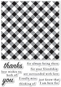 CL478 Picnic Plaid clear stamp set