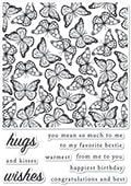 CL479 Butterfly Wings clear stamp set