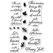CL485 Autumn Leaves clear stamp set