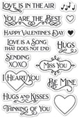 CL489 Valentine's Fun clear stamp set
