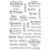 CL490 Greeting Basics clear stamp set