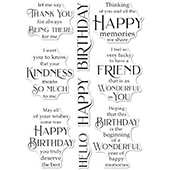 CL492 Friendship and Kindness clear stamp set