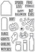 CL493 Halloween Ingredients clear stamp set