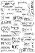 CL495 Christmas Greetings clear stamp set