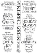 CL497 Joyous Christmas Wishes clear stamp set