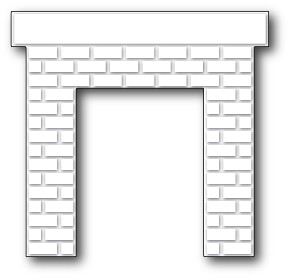 1041 Classic Brick Fireplace craft die