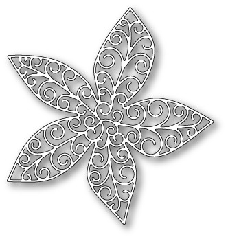 1044 Grand Luxe Poinsettia Outline craft die