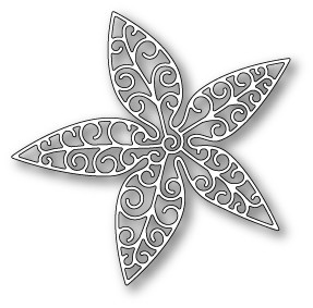 1049 Luxe Poinsettia Outline craft die