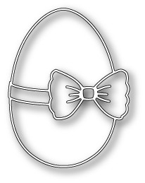 1156 Ribbon and Bow Egg craft die