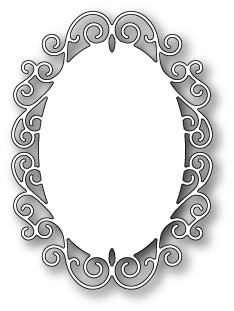 1197 Claudette Oval Frame craft die