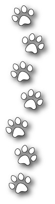 1209 Dog Paw Border craft die