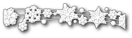 1544 Snowflake Shimmer Ribbon craft die