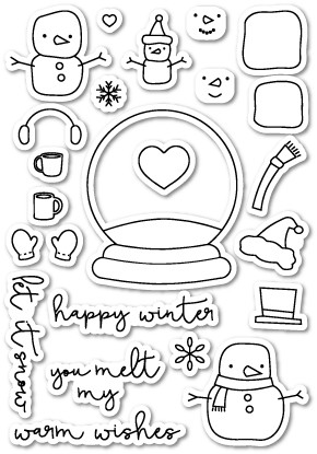 CL407 You Melt My Heart Clear Stamp Set