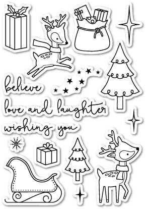 CL412 Christmas Delights Clear Stamp Set