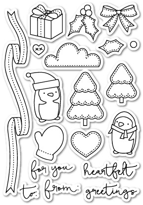 CL415 You Keep Me in Stitches Clear Stamp Set