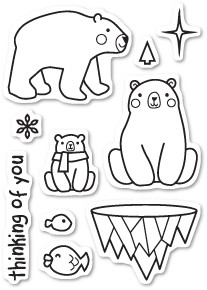 CL434 Polar Bear Fun Clear Stamp Set