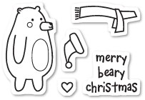 CL438 Beary Christmas Clear Stamp Set