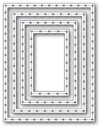 2072 Stitchwork Rectangle Frames craft die