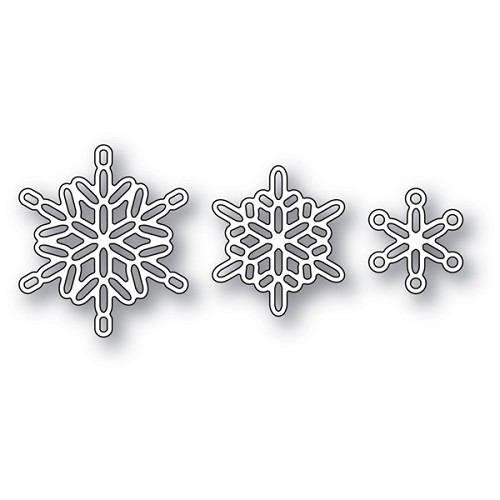 2107 Linked Snowflake Trio craft die