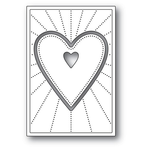 2154 Deco Shining Heart craft die