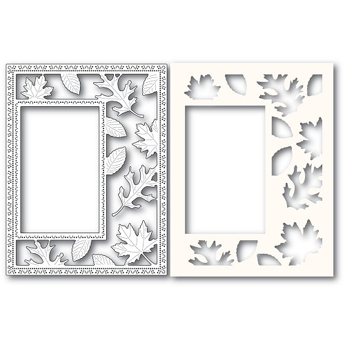 2243 Autumn Leaves Sidekick Frame and Stencil craft die