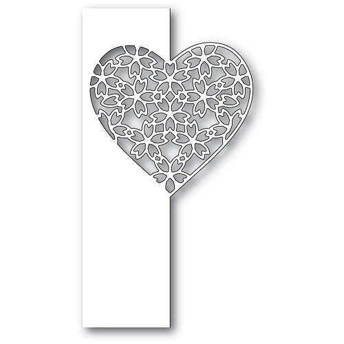 2285 Floral Lace Heart Split Border craft die